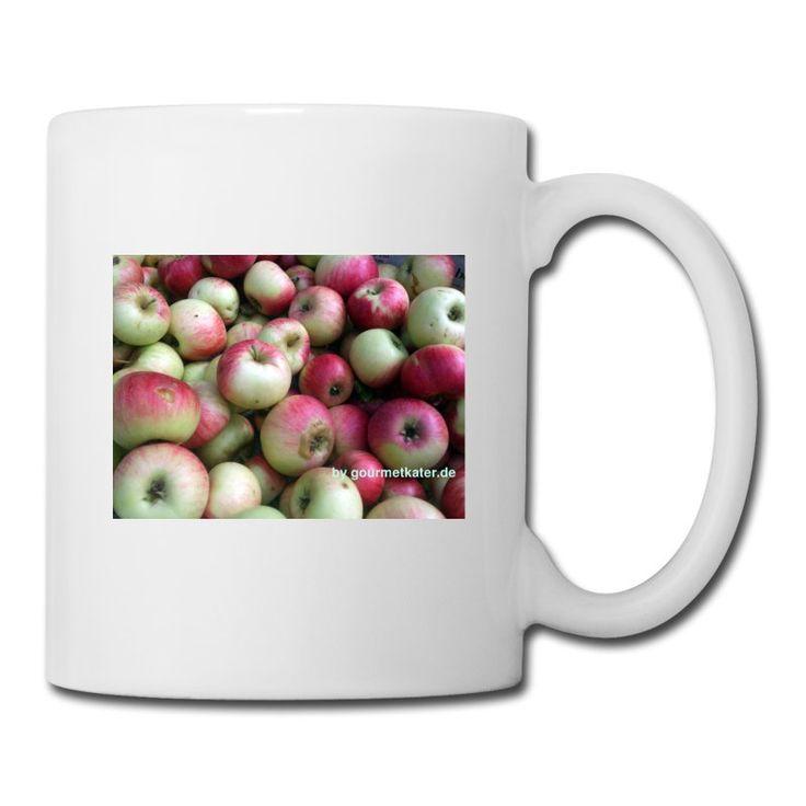 Äpfel pur ohne Bla Bla! Ideal für Obstbauern, Gärtner oder einfach nur den Apfelfreund. #tasse #cup #apple #apfel #shirt #gourmetkater #shopping Auch als shirt!