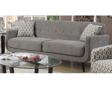 Mid Century Modern Sofa   Heather Grey   Sam Levitz Furniture
