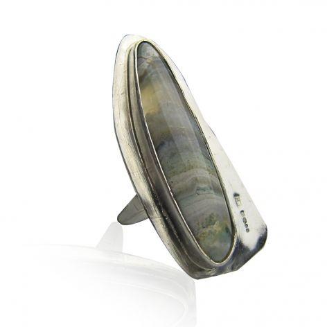 long agate ring by Maya Magal