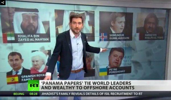 "Julia Davis @JuliaDavisNews | #Russia hates #PanamaPapers, calls them ""Putinphobia""— but they do love this part. Forget Putin, look at the birdie!"