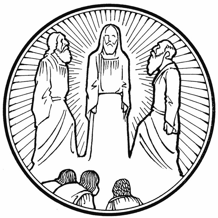 jesuss transfiguration coloring pages - photo#23