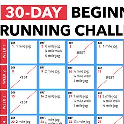Lacing up for the first time ever or lacing up after taking a long period off is rough. Our 30-day Beginner's Running Challenge will make a you fall in love with running by day 15!