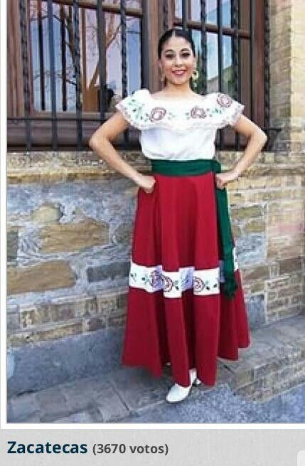 Traje tipico de Zacatecas. mex