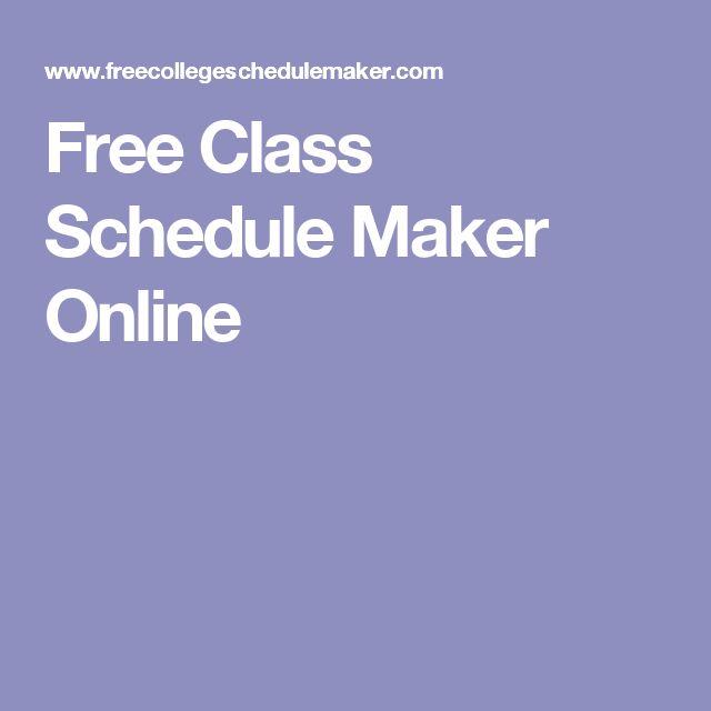 Best 25+ School schedule maker ideas on Pinterest   Cue card maker ...