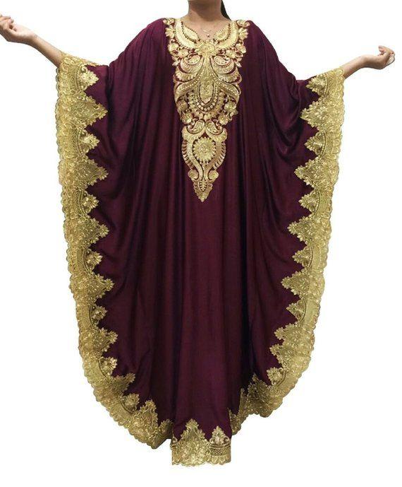98e537dd8358 Oversize Burgundy Kaftan Dress, Plus Size Maxi Caftan Dress Summer Chiffon  Kaftans, Moroccan Caftan