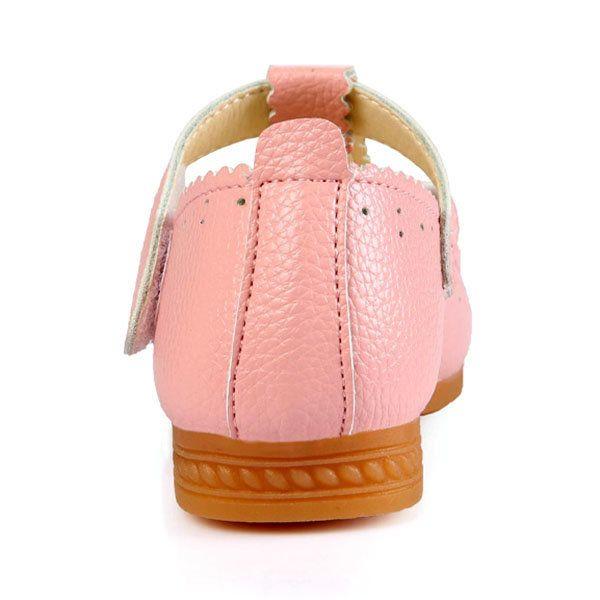 Cute Pure Color Bowknot Little Girl Dress Shoes
