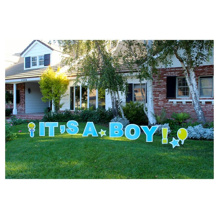 It's A Boy Aqua Blue Yard Sign, Powder