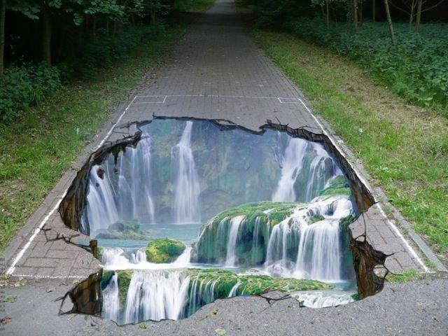 Waterfall chalk art https://www.facebook.com/photo.php?fbid=493280884052691=a.464894373558009.96257.464892343558212=1