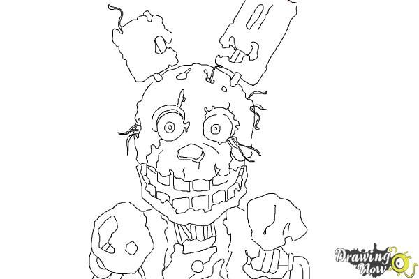 How To Draw Springtrap From Five Nights At Freddy 39 S 3 Hi All Here S Another Tutorial Coloring Pages Inspirational Puppy Coloring Pages Cute Coloring Pages