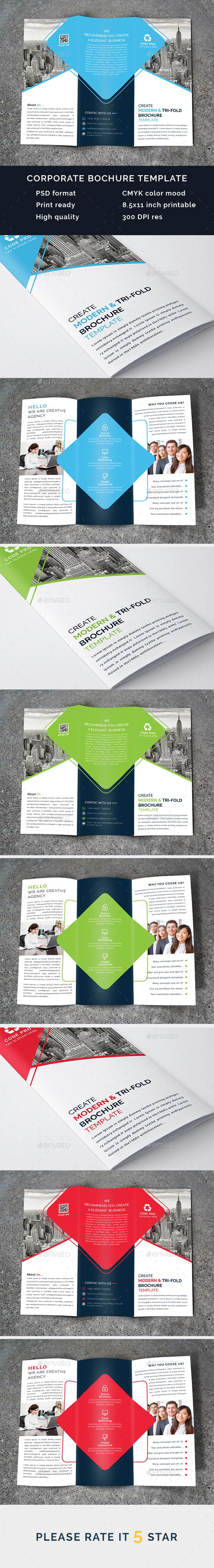 Corporate Brochure Template PSD. Download here: https://graphicriver.net/item/corporate-brochure/17332089?ref=ksioks