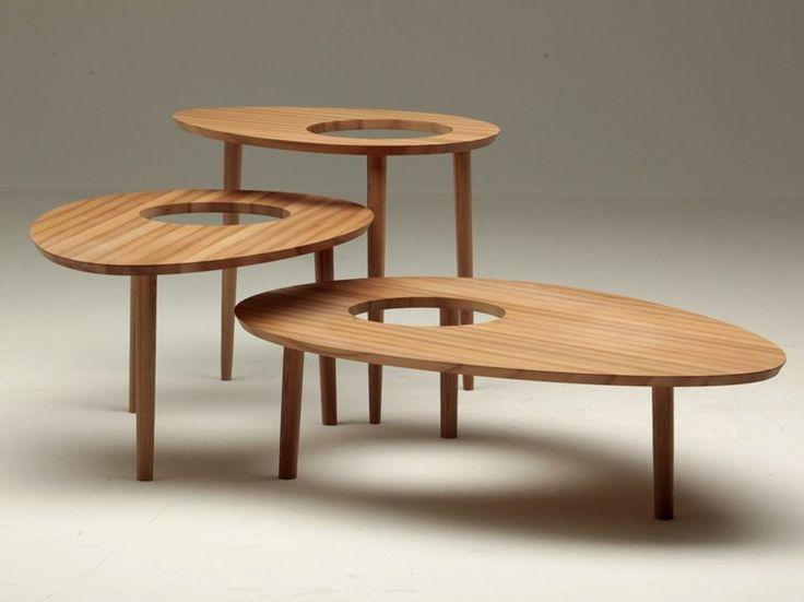 Table basse ovale en bois AB OVO by Dizzconcept design Armano Linta d.o.o.
