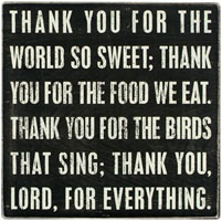 our childhood supper prayer