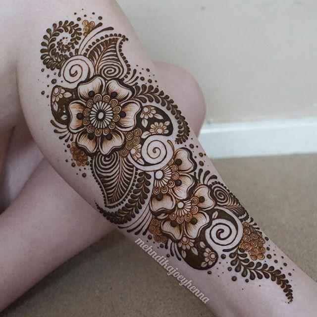 Mehndi Design For Right Leg : The best leg henna ideas on pinterest