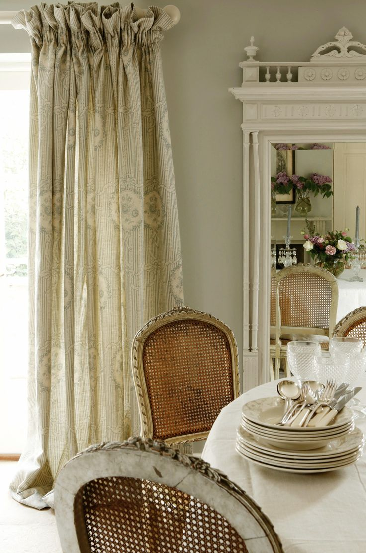 Gathered frill top curtains