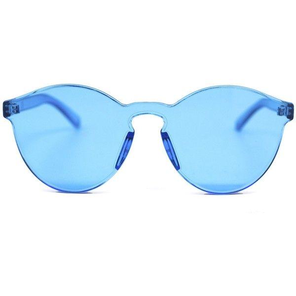 Ocean Sunglasses ($40) ❤ liked on Polyvore featuring accessories, eyewear, sunglasses, futuristic glasses, futuristic sunglasses and acrylic glasses
