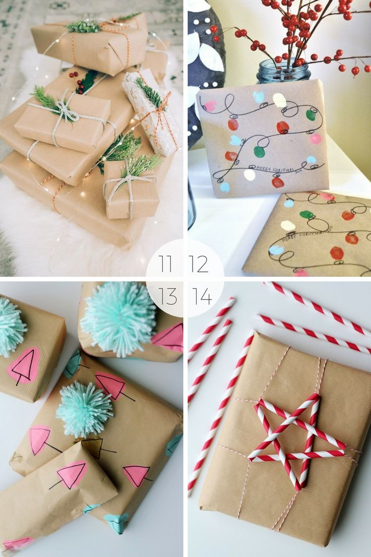 15 Christmas wrapping ideas using brown paper - I use brown paper or craft paper for wrapping all my gifts - I just theme it differently. Here are 15 Christmas gift wrapping ideas using brown paper.
