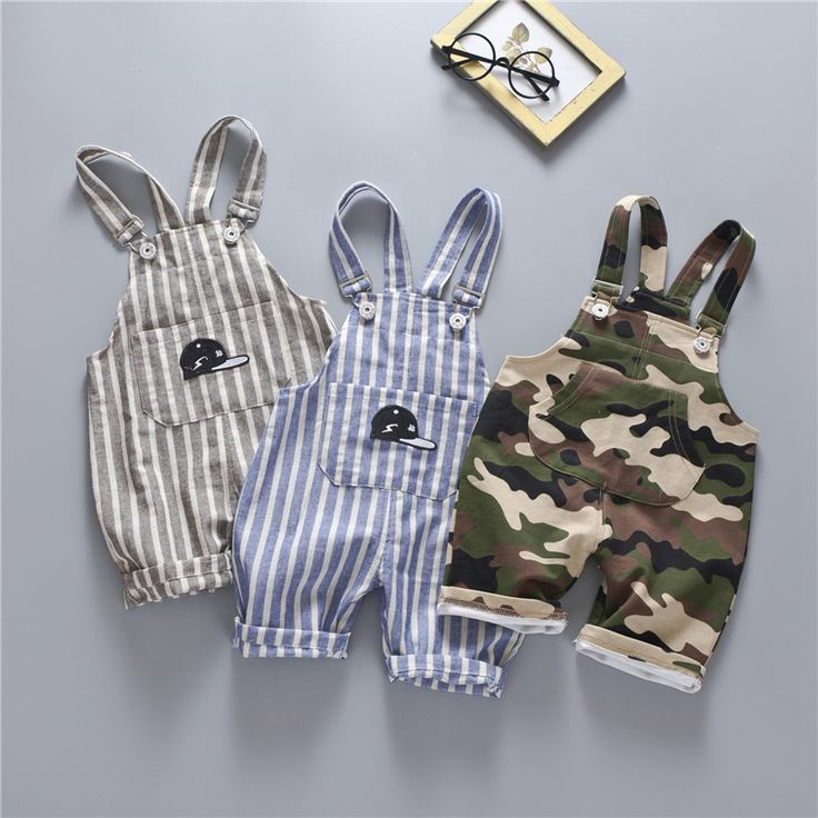 >> Click to Buy << New 2017 Summer Infant Baby Striped Camouflage Print Overalls Trouser Boys Casual Cotton Pants roupas de bebe #Affiliate