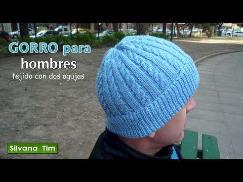 GORRO para HOMBRES tejido con dos agujas # 415 - YouTube