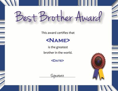 17 best award template images on Pinterest Award template, Award - best of recognition award certificate wording