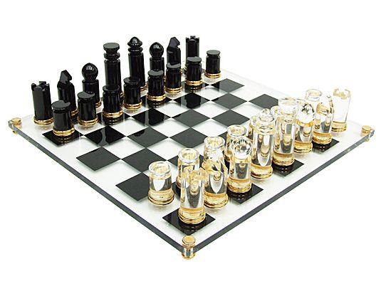 1970s Michel Dumas Lucite, Gold U0026 Glass Chess Set Http://www.