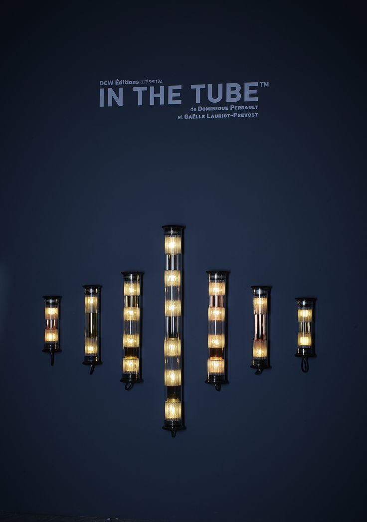 In The Tube lamps presented at Maison & Objet Paris, January 2016