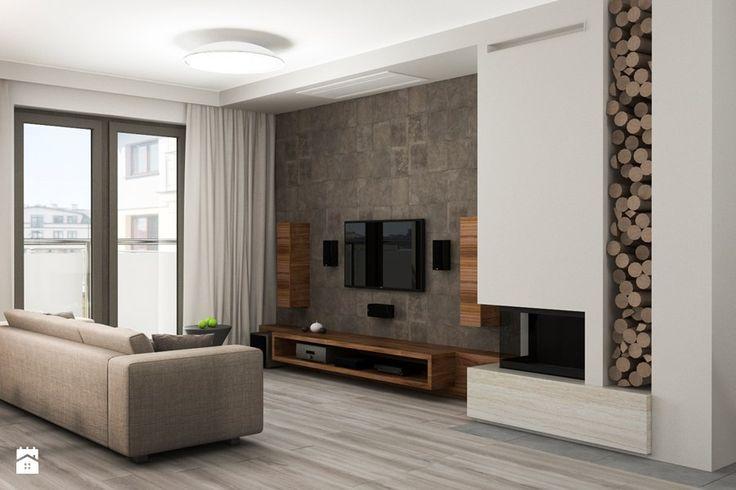 Projekt wnętrz mieszkania - Średni salon z tarasem / balkonem, styl nowoczesny - zdjęcie od ARCHISSIMA