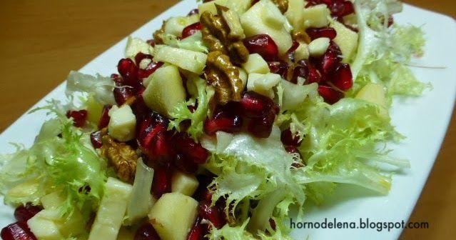 Recetas fáciles de Josean MG: Ensalada de escarola y granada