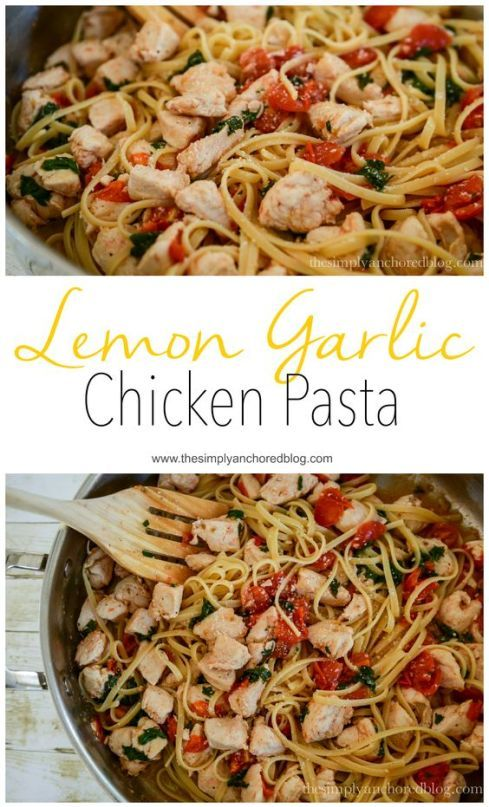 Lemon Garlic Chicken Pasta. A 21 Day Fix approved pasta recipe.