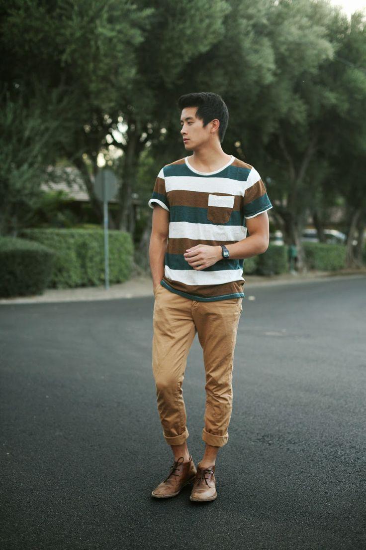 Top Asian Male Fashion Blogger - Peter Adrian Sudarso wearing Pacsun Stripe Tee
