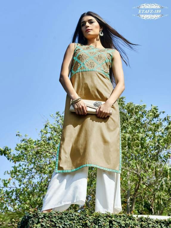 Grey Colour Cotton Stitched Kurti