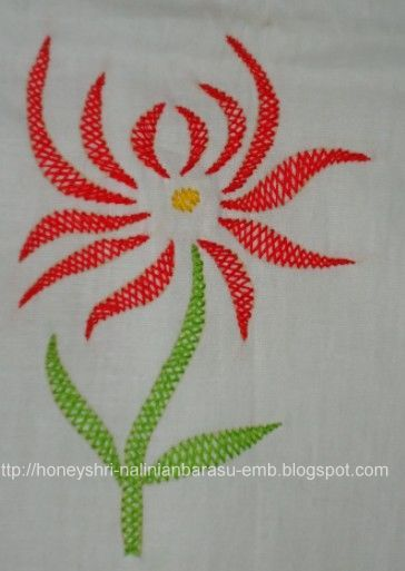 The best images about embroidery stitches flowers