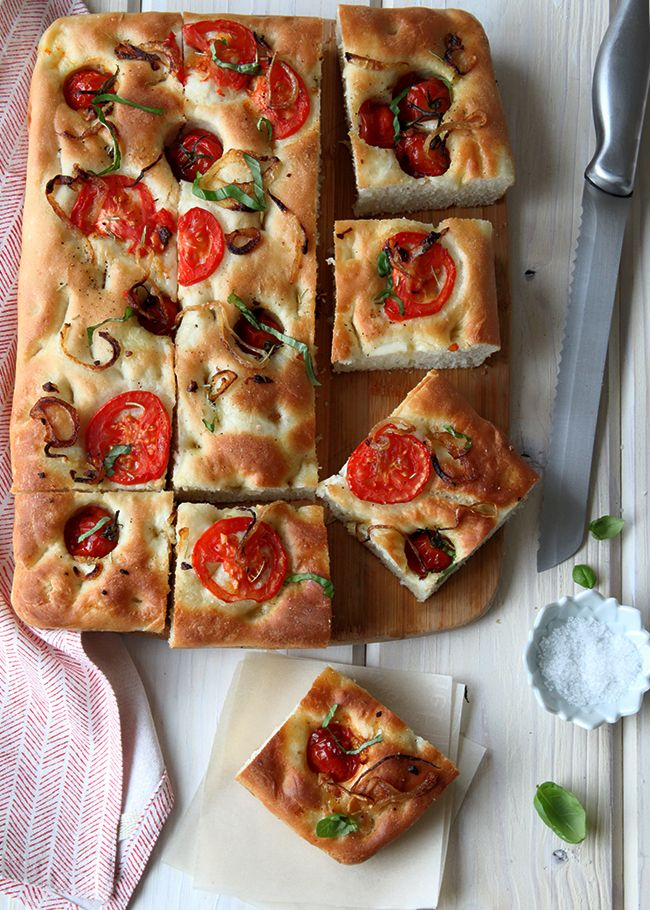 Herb and Tomato Focaccia Recipe- Style Sweet CA