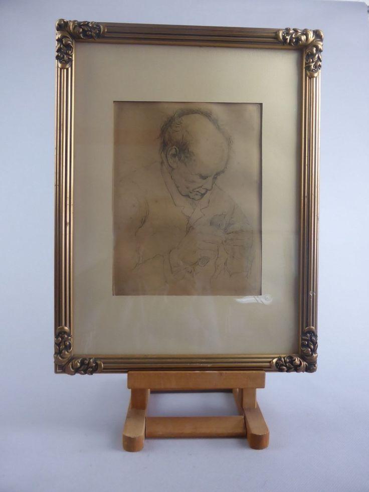 VICTOR DIEU BELLE LITHO GRAVURE VIEIL HOMME PEINTRE BELGE QUAREGNON 1873-1954   eBay