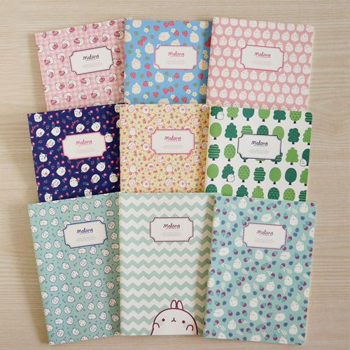 Random 3 Notebooks Among 9 Cute Pattern Notebooks Notebook Diary Trable Note | eBay