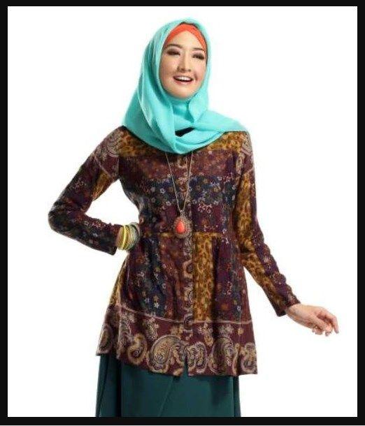 Model Baju Batik Atasan Kombinasi Bawahan Rok Panjang Model Batik