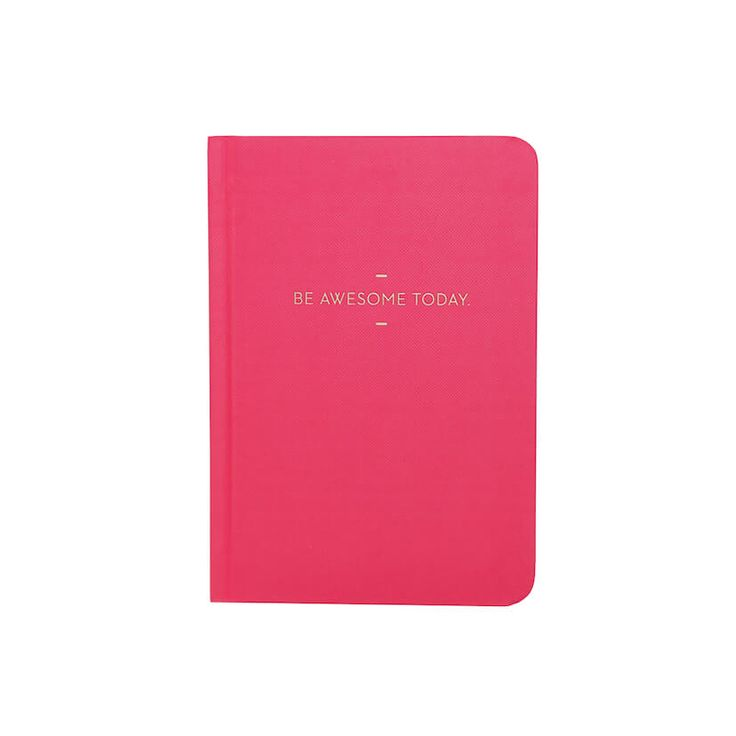 Compendium Motto journal Be awesome today notitieboek, notitieboekje, roze, puntjes