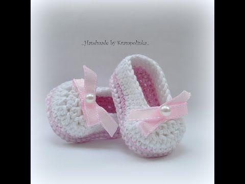 Baby balerina shoes. – Krampolinka    free crochet pattern in English and Czech