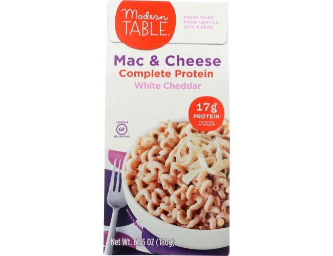 Modern Table White Cheddar Complete Prtoein Mac And Cheese 6 35 Ounce 6 Per Case Mac And Cheese White Cheddar Cheddar