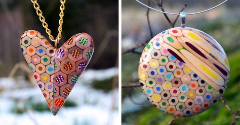 Jewelry Made From Coloured Pencils By Czech Artist | Bored Panda