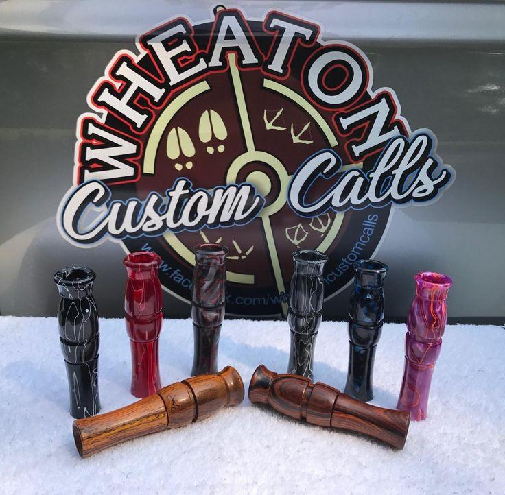 Custom Calls, Duck, Wood Duck, Goose, Turkey and Deer check us out on facebook or etsy  https://www.facebook.com/wheatoncustomcalls  OR  https://www.etsy.com/shop/handmadebyMarcyNTom