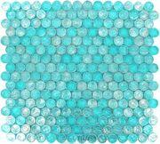 Onix Glass Tiles - GeoGlass Series - Iridescent Blue Circles - ( ONX-51732 )