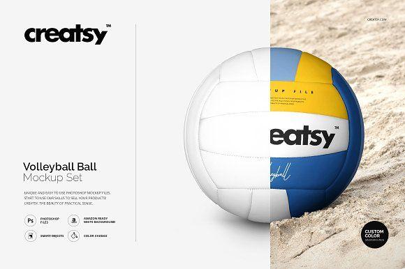 Volleyball Ball Mockup Set by Creatsy on @creativemarket