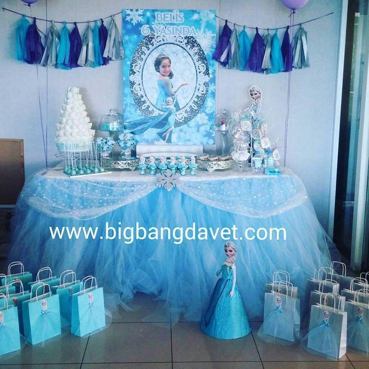 Frozen birthday party, Karlar Kraliçesi Doğum Günü Partisi, şeker büfesi, elsa