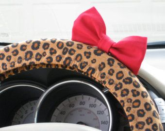 Steering Wheel Cover Bow  Cheetah Steering Wheel by BeauFleurs