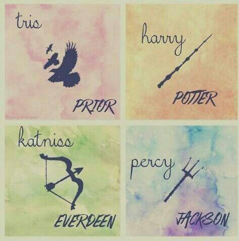 Tris Prior, Harry Potter, Katniss Everdeen, Percy Jackson