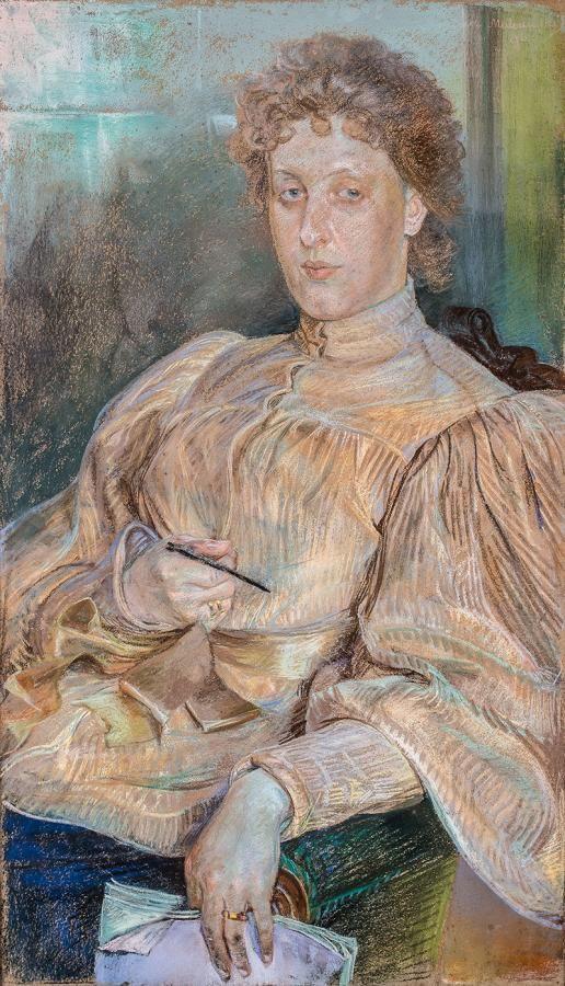 JacekMalczewski:Portret p. Malczewskiej, 1896 r.