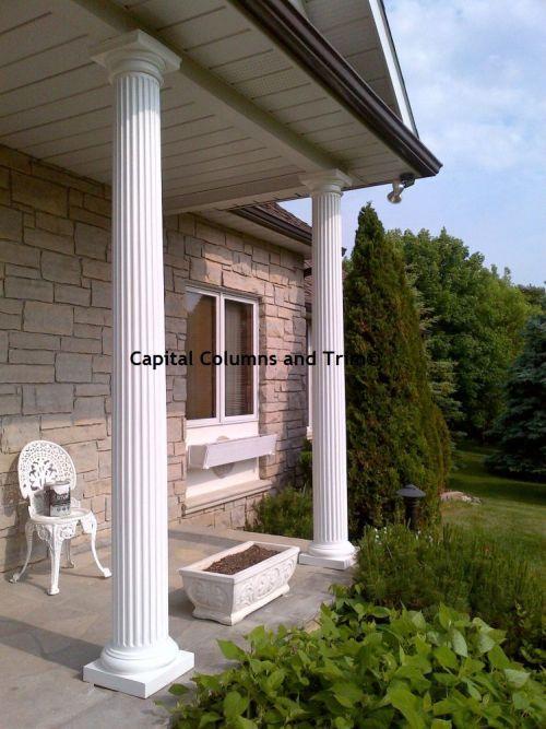 15 best exterior fiberglass columns images on pinterest for Fluted fiberglass columns