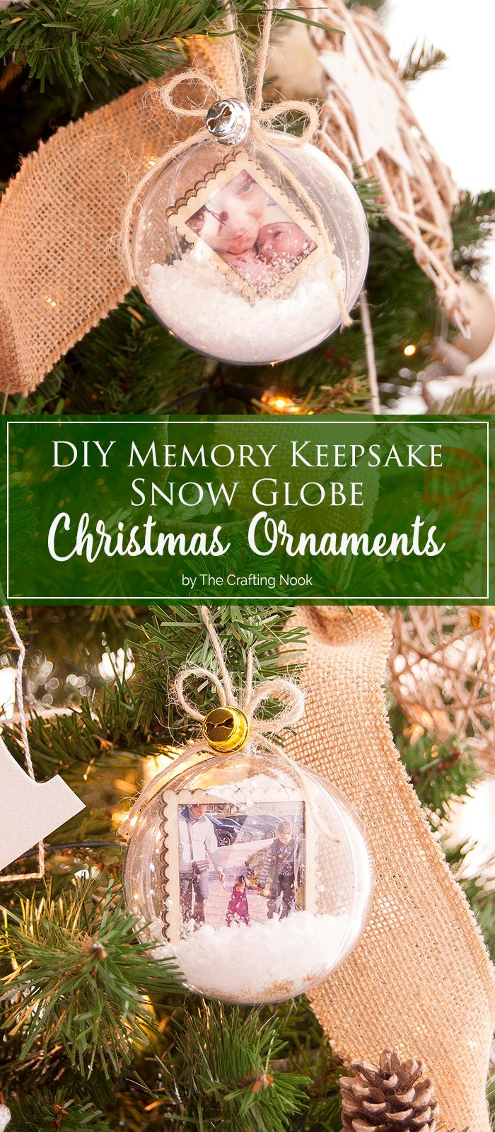 Are you looking for an idea to add meaningful and precious loving moments to your Christmas tree? These DIY Memory Keepsake Snow Globe Christmas Ornaments will do just that. All the love from the happiest moments of our lives right here in our tree!