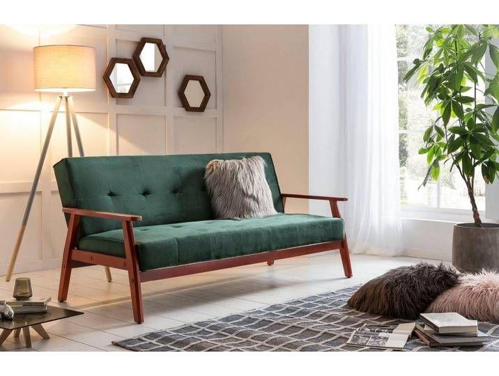 Salesfever Schlafsofa Mit Relaxfunktion Grun Tannengrun Furniture Home Decor Home