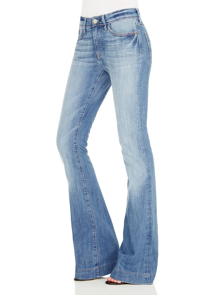 Image for Mavi Sheena High Rise Flare In Mid Rome Wash from Just Jeans